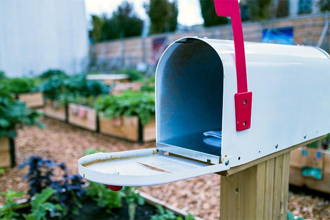 A rural mailbox