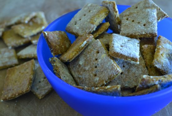Baked Protein Cheese Crackers