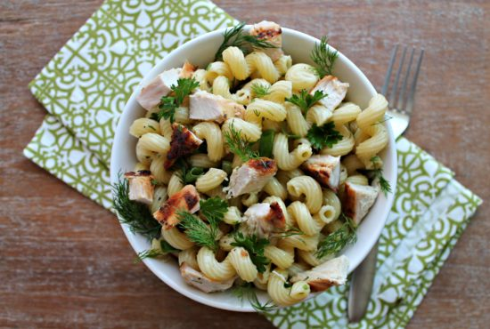 Grilled Chicken Pasta Salad with Spring Herbs