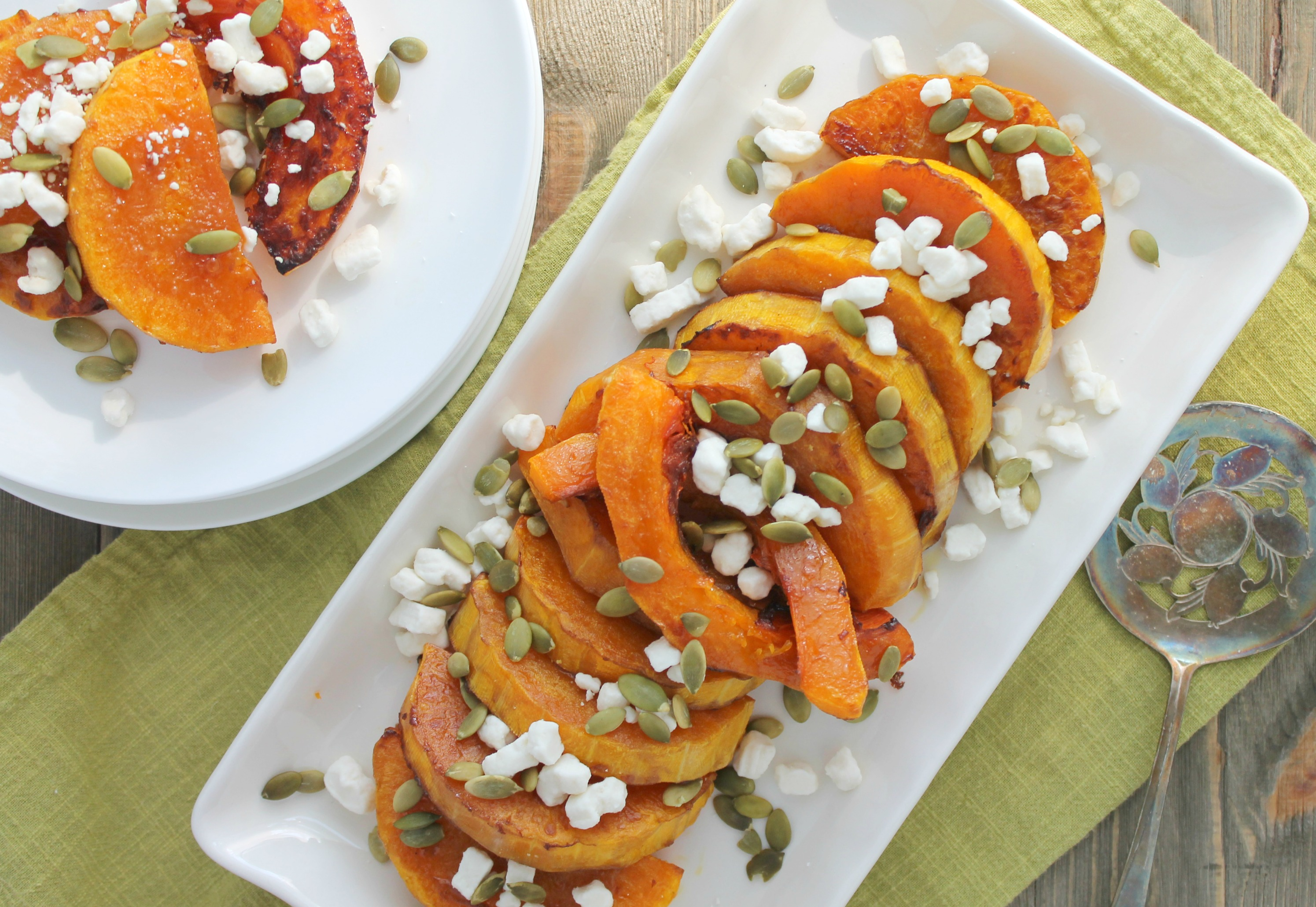Roasted Butternut Squash with Goat Cheese and Pumpkin ...