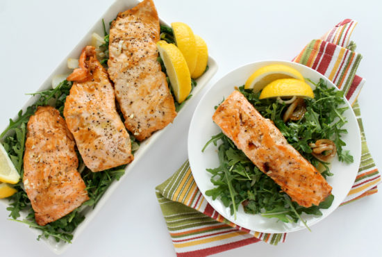 Orange Sesame Ginger Salmon & Arugula