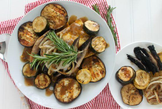 Rosemary Balsamic Grilled Vegetables & Polenta