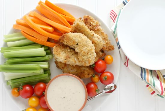 Baked Roasted Garlic and Peppercorn Chicken Tenders