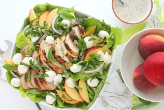 Grilled Chicken, Nectarine, and Mozzarella Salad