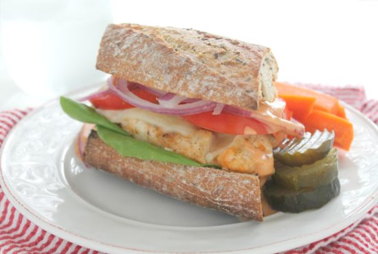 Grilled Cod Sandwiches with Cheddar