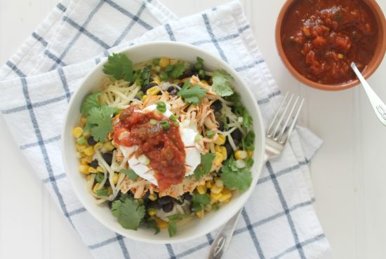 Spicy Slow Cooker Chicken Bowls