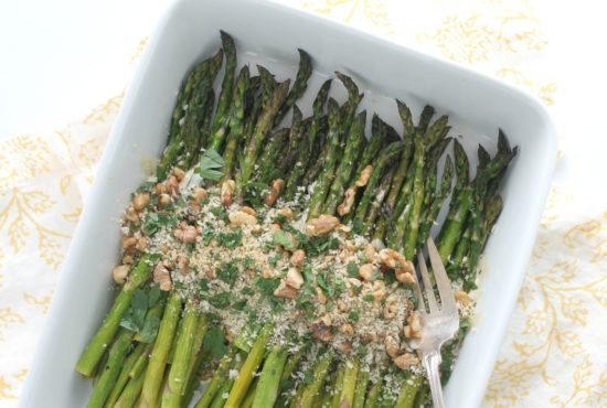 Roasted Asparagus with Walnuts and Breadcrumbs