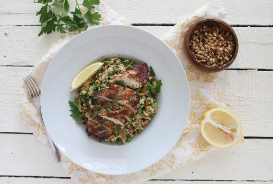 Goddess Grilled Chicken & Rice Salad