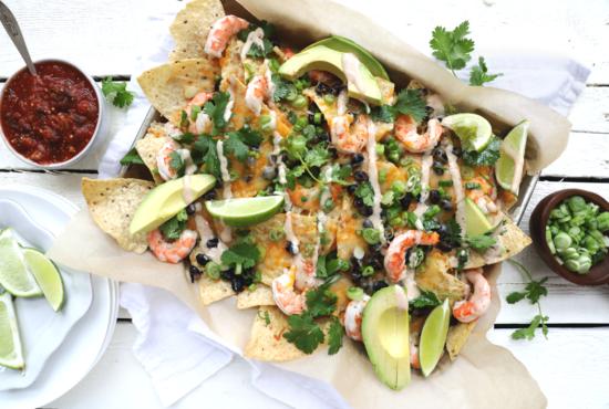 Easy Shrimp Nachos