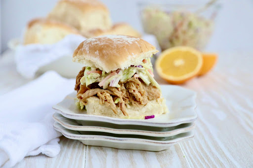 Orange Sesame Ginger Pulled Pork Sliders