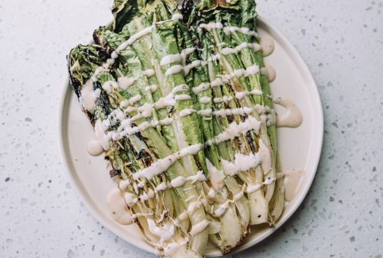 Grilled Romaine with Creamy Ranch