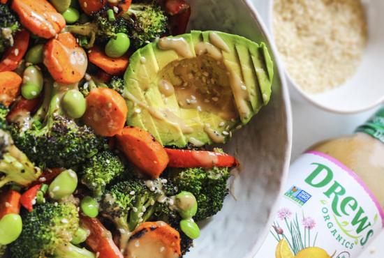 Grilled Vegetable Salad with Tahini Goddess